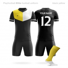 Футбольная форма Playfootball Elite black-yellow
