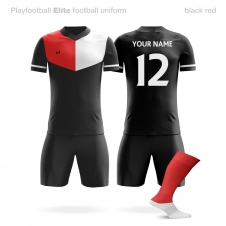 Футбольная форма Playfootball Elite black-red