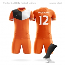 Футбольная форма Playfootball Elite orange-black