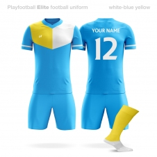 Футбольная форма Playfootball Elite lightblue-yellow