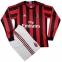 Футбольная форма Милана 2017/2018 stadium домашняя с длинным рукавом